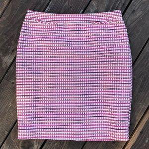 Talbots Geometric Mini Skirt
